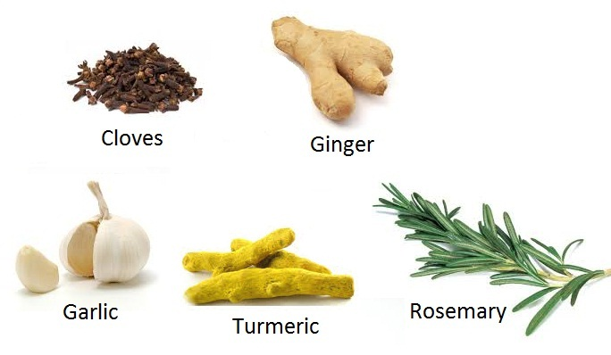 Spices, spices that lower blood sugar levels, Cloves, Ginger, Rosemary, Turmeric, fertility boosting foods, fertility foods for women