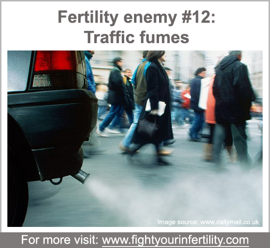 Air pollution and traffic fumes tied to infertility risk, air pollution and infertility, environmental causes of infertility