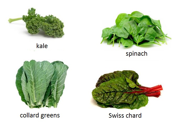 Leafy greens, kale, spinach, collard greens, swiss chard,fertility boosting foods, fertility foods for women