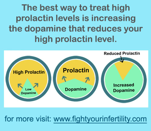 treat high prolactin levels, increasing dopamine levels, high prolactin levels treatment