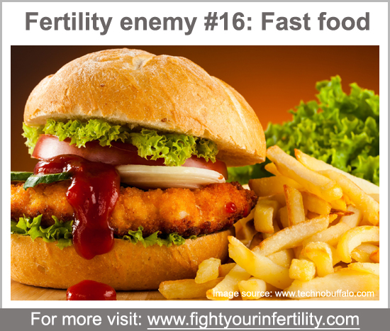 does fast food cause infertility, can fast food cause infertility, fast food and infertility, worst foods for fertility, foods bad for fertility