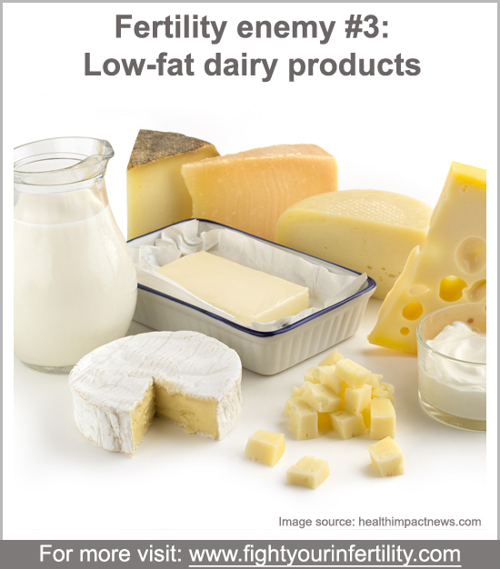 low fat dairy products pregnancy, How Dairy Affects Fertility, worst foods for fertility, foods bad for fertility