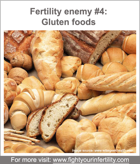 gluten intolerance recurrent miscarriage, accidentally ate gluten while pregnant, gluten sensitivity and miscarriage, gluten sensitivity infertility, worst foods for fertility, foods bad for fertility